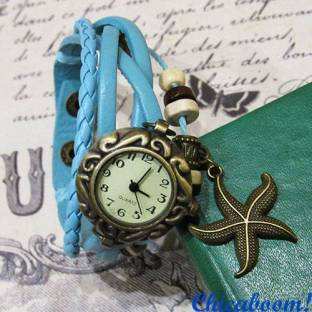 Часы-браслет с голубым ремешком (морская звезда)