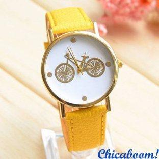Часы с жёлтым ремешком (велосипед)