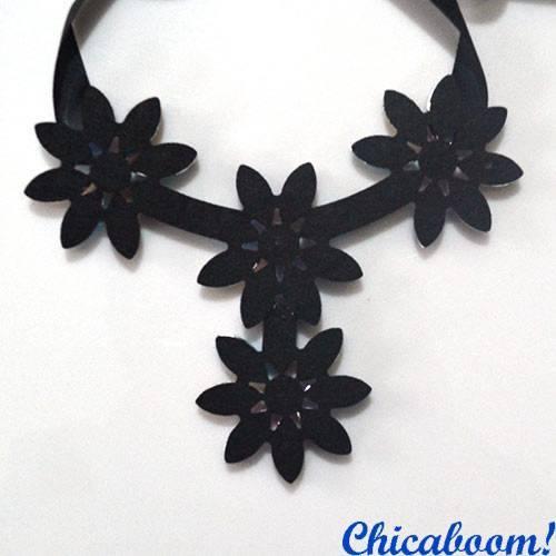 Ожерелье Ледяные цветы (мультиколор №3)