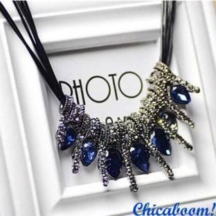 Ожерелье Glory синего цвета