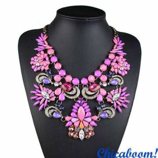 Ожерелье Грация фиолетового цвета