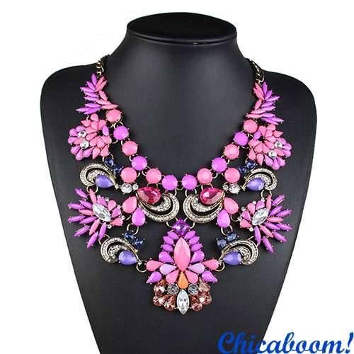 Ожерелье Грация в фиолетовых тонах