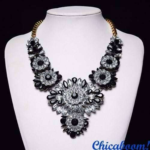Ожерелье Shourouk Black & Ice