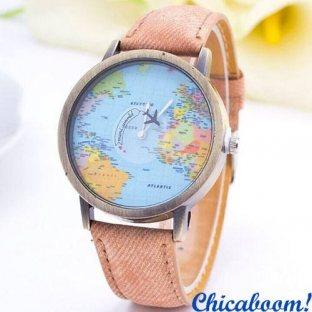 Часы Mini world (персиковый ремешок)