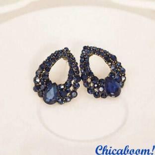 Серьги Сумерки (синий цвет)