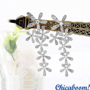 Серьги Серебряный цветок