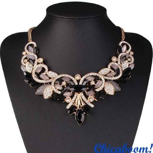 Ожерелье Annette в чёрных тонах