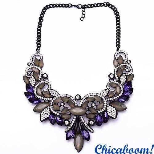 Ожерелье Annette в фиолетовых тонах