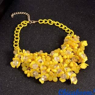 Ожерелье Flowers в жёлтых тонах