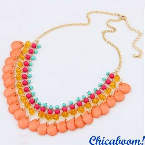 Ожерелье Эмилия (оранжевое)