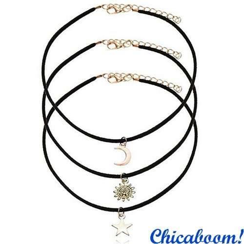 Ожерелье чокер Sun Moon Star
