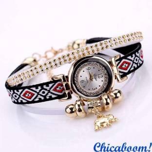 Часы DUOYA со стразами (белый цвет)