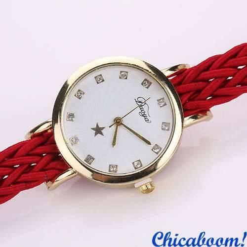 Часы DUOYA Weave (красный цвет)