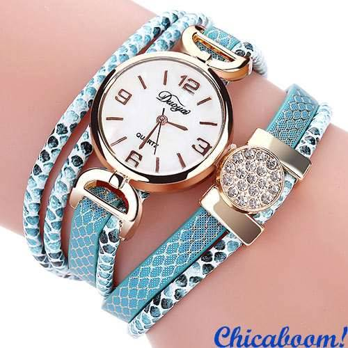 Часы DUOYA Snake (голубой цвет)