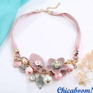 Ожерелье Франческа розового цвета