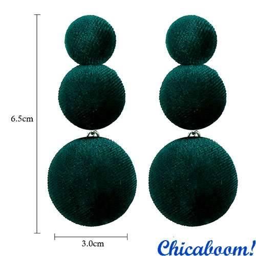 Серьги Velvet зелёного цвета