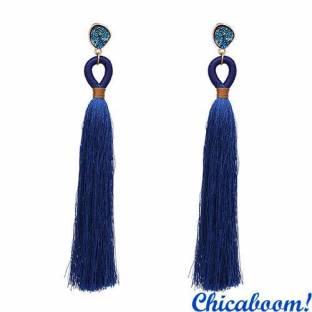 Серьги-кисти Bahroma №2 синего цвета