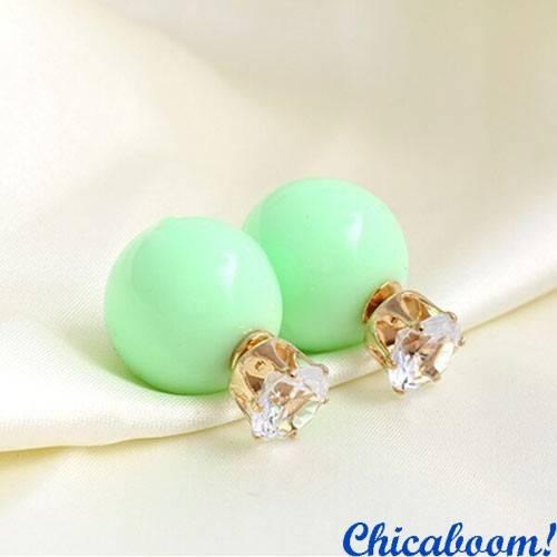 Серьги в стиле Dior мятного цвета (корона)
