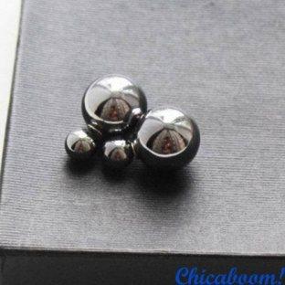 Серьги Жемчужина в стиле Dior серебристого цвета (металлик)