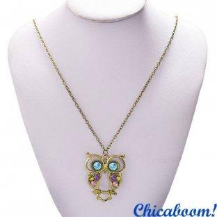 Ожерелье-подвеска Сова (винтаж)
