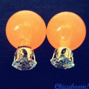 Серьги в стиле Dior оранжевого цвета (корона)