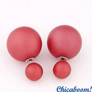 Серьги Жемчужина в стиле Dior розового цвета №2 (матовые)
