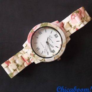 Часы Geneva с цветочным принтом №2