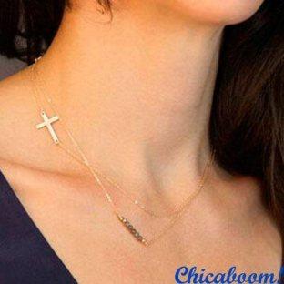 Ожерелье-цепочка Крестик