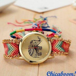 Часы Geneva с тканевым ремешком (слон) №2