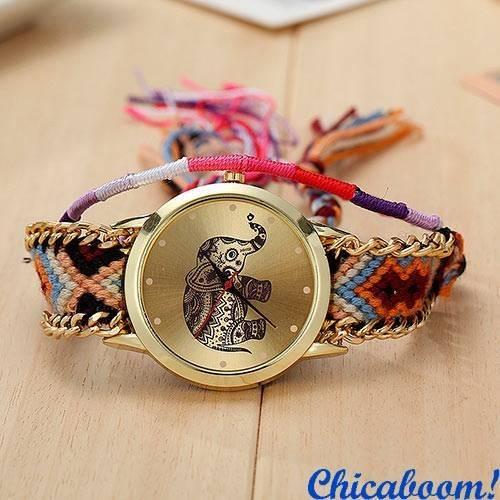 Часы Geneva с тканевым ремешком (слон) №1