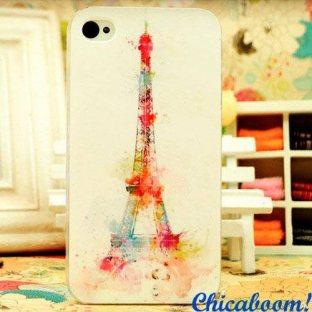 Чехол для iPhone 4 Эйфелева башня