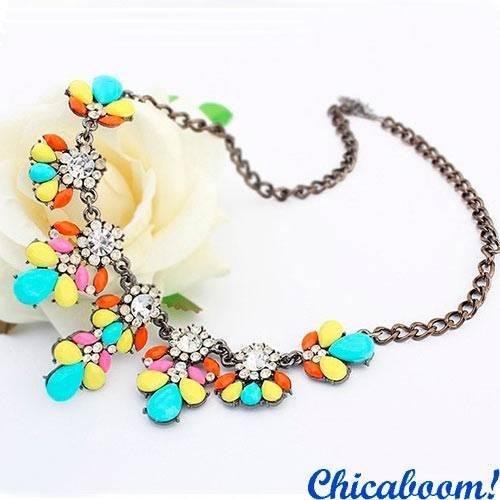 Ожерелье Цветочный кристалл (мультиколор)