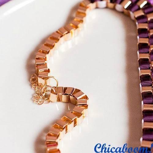 Ожерелье Плетёное №2 в фиолетовых тонах