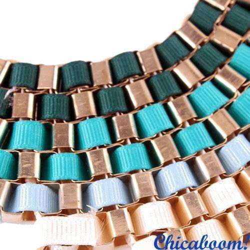 Ожерелье Плетёное №2 в голубых тонах