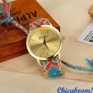 Часы Geneva с тканевым ремешком №5