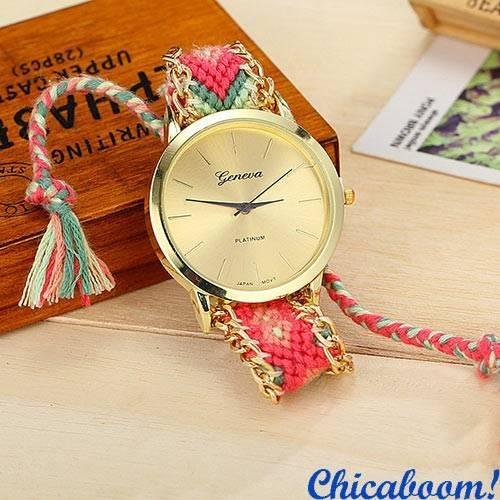 Часы Geneva с тканевым ремешком №2