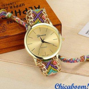 Часы Geneva с тканевым ремешком №3