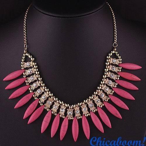 Ожерелье Слоновая кость (розовый цвет)