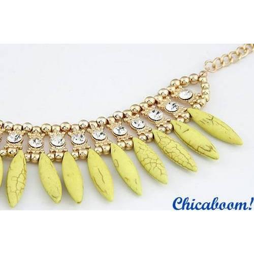 Ожерелье Слоновая кость (жёлтый цвет)