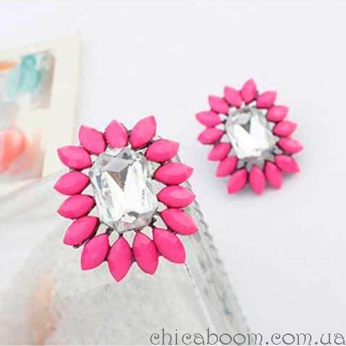 Серьги Shourouk mini розового цвета