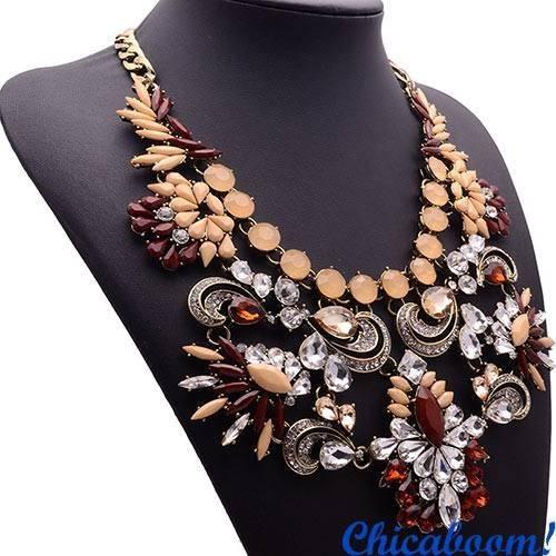 Ожерелье Грация персикового цвета