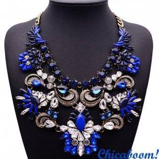Ожерелье Грация синего цвета