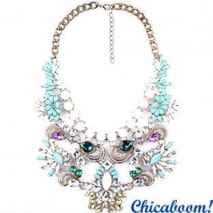 Ожерелье Грация бирюзового цвета