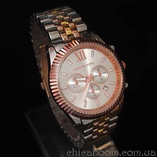 Часы Michael Kors (розовое золото и серебро)