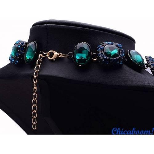 Ожерелье Angie зелёного цвета