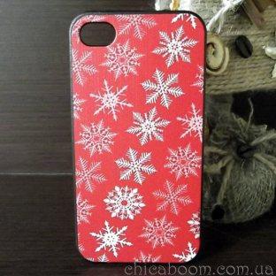 Чехол для iPhone 4 Новогодний