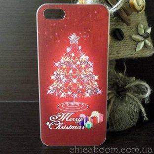 Чехол для iPhone 5 Новогодняя ёлка