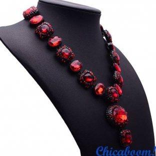 Ожерелье Angie красного цвета