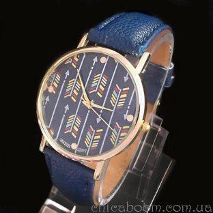 Часы с синим ремешком (стрелы)