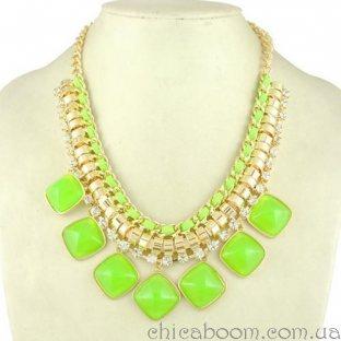 Ожерелье Настроение (салатовый цвет)
